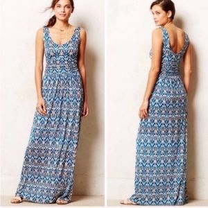 Anthropologie Vanessa Virginia Ikat Maxi Dress